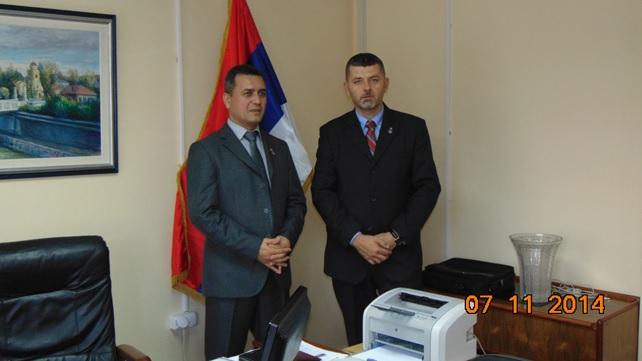Načelnik Zaječarskog upravnog okruga Vladan Paunović u poseti Šumadijskom okrugu