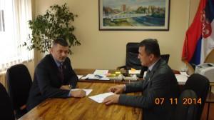 Sastanak sa Načelnikom Šumadiskog upravnog okruga Damjanom Srejićem