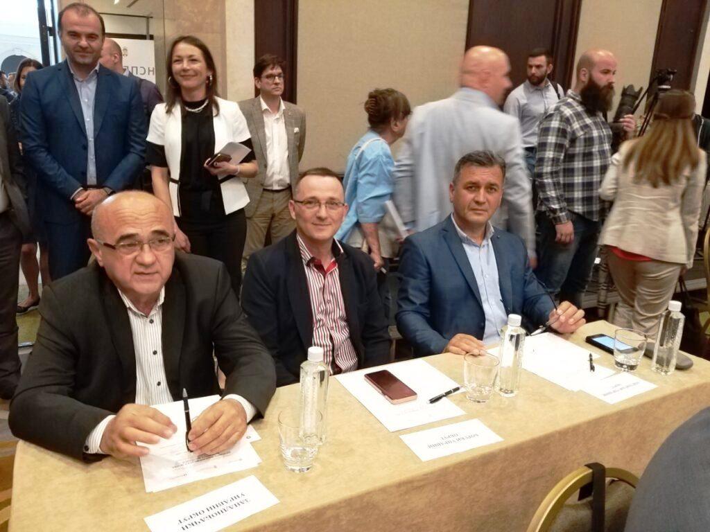 сл.3. начелници Округа Д.Маријан, Б.Станковић и В.Пауновић